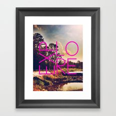 The World Around Us Framed Art Print