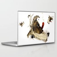jack russell Laptop & iPad Skins featuring Jack Russell by Ariadna