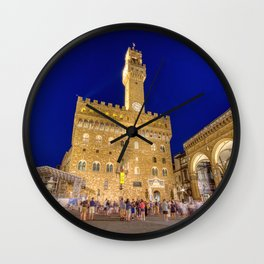 View of the Palazzo Vecchio Wall Clock