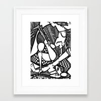 hiphop Framed Art Prints featuring HipHop by mandybrown Art