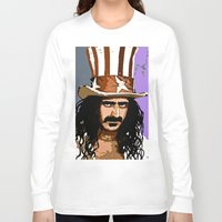 woodstock Long Sleeve T-shirts featuring Zappa by Saundra Myles