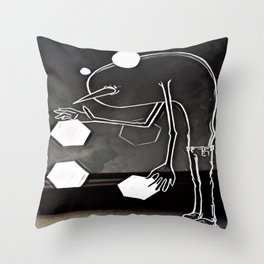 Hello Anxiety Throw Pillow
