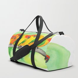 Parrots In A Row Duffle Bag