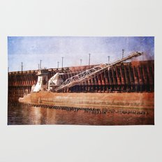Vintage Great Lakes Freighter Rug