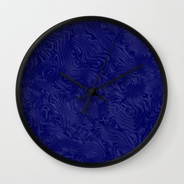 Royal Blue Silk Moire Pattern Wall Clock