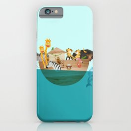 Noahs Ark with Animals– Illustration for the childrens room of girls and boys iPhone Case