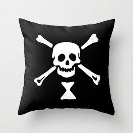 Emanuel Wynne Pirate Flag Jolly Roger Throw Pillow