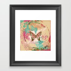 The Butterfly Experiment Framed Art Print