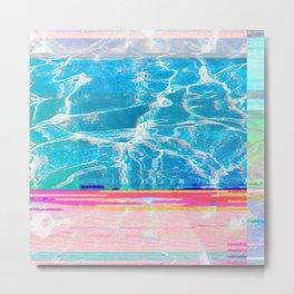 Water Glitch Metal Print