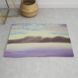 Mountain and Sea 4 / Watercolor Painting Rug