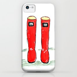 Happy Shiny Red Boots iPhone Case