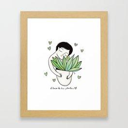 El loco de las plantas Framed Art Print