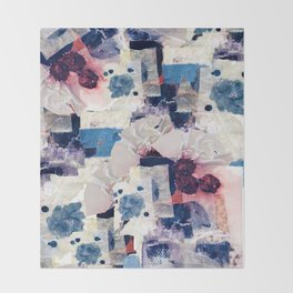 patchy collage Throw Blanket