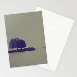The trees at the end of the pier Stationery Cards