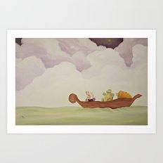 emerald voyage Art Print