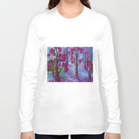 the life aquatic Long Sleeve T-shirts featuring Aquatic Tree Scape  by GraceJinnah