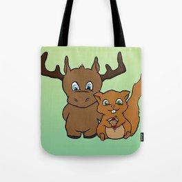 Moose and squirrel Tote Bag