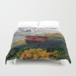 An Autumn Day on the Duquesne Incline in Pittsburgh, Pennsylvania Duvet Cover
