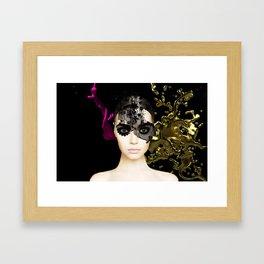 Behind the mask Framed Art Print