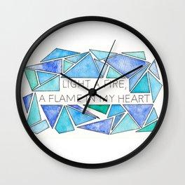 Light a Fire Wall Clock