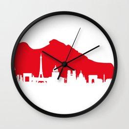 Air Max: Paris skyline Wall Clock