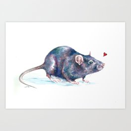 Rat love Art Print