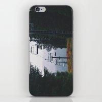 ski iPhone & iPod Skins featuring Ski Lift by Hannah Kemp