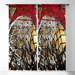 Basketball art swoosh vs 9 Blackout Curtain