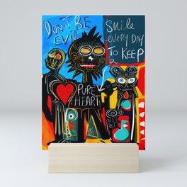 Don't be Evil Street Art Graffiti Mini Art Print