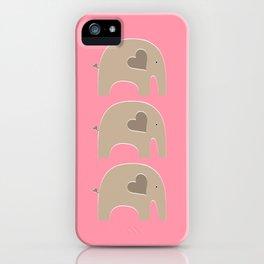 Pink Safari Elephant iPhone Case
