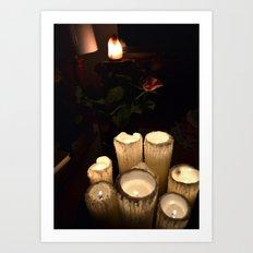 melting candles Art Print