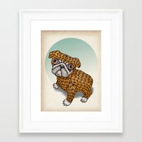 puppy Framed Art Prints featuring PUPPY by evafialka