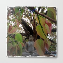 Buddha Statue at Abhayagiri Stupa Metal Print