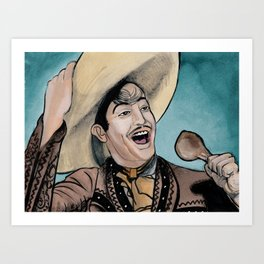 Jorge Negrete Really Loves Smoked Chicken Art Print