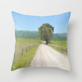 All Roads Lead to Here Throw Pillow