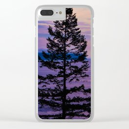 VanCity Sights In Purple Clear iPhone Case