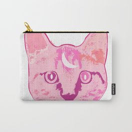CAT DARK PINK Carry-All Pouch