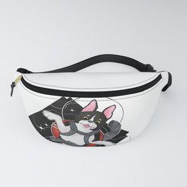 Look to the Stars #3 - Space Boston Terrier (color) Fanny Pack