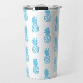Light Blue Pineapple Travel Mug