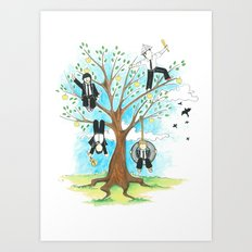 Les Petits - Apple Tree Art Print