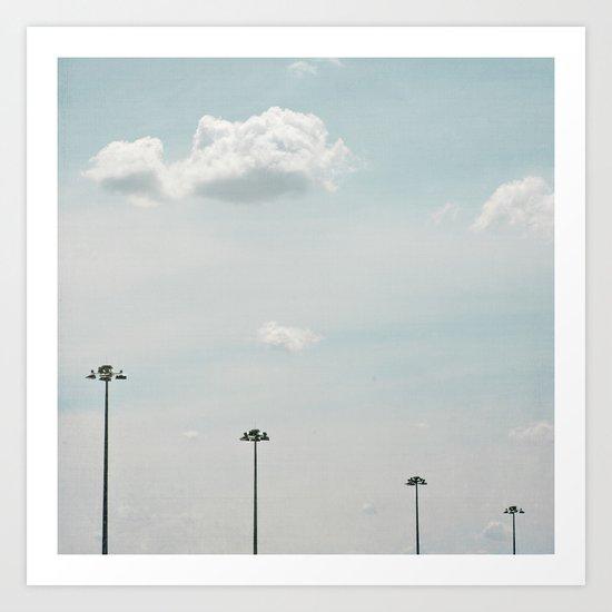 Cloud love Art Print
