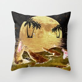 Denial Is A River In Egypt Throw Pillow