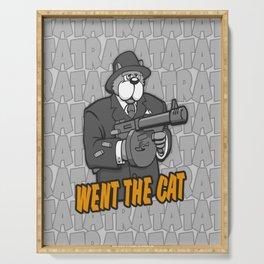 RATATATAT Went The Cat Serving Tray