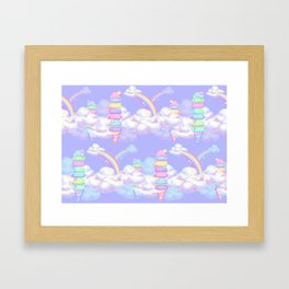 Ice Cream Skies Framed Art Print