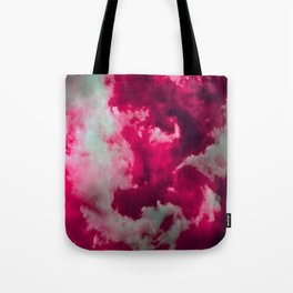 Tumultuous in ruby and mint Tote Bag