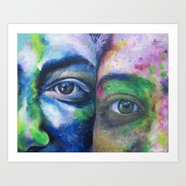We Compliment Each Other Like Colors Art Print