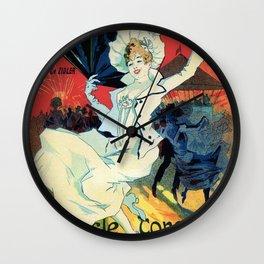 1890 Jardin De Paris Night Party Wall Clock