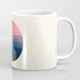 Blue Purple & Pink Mountains Sunset Silhouette Coffee Mug