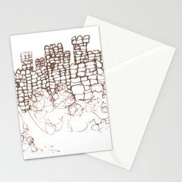Town Walls  Loose Sketch Stationery Cards
