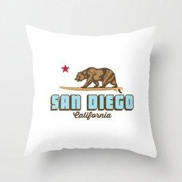 San Diego. Throw Pillow